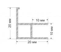 Ruchey-4 20x20 mm, 0.179 kg / meter