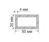 Aluminum Tubing 30х50 mm, thickness 4 mm