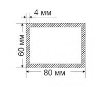 Aluminum Tubing 60х80 mm, thickness 4 mm