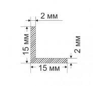 Corner 15x15x2 mm, 0.152 kg / p.m.