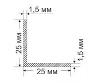 Corner 25х25х1.5 mm, 0.195 kg / p.m.
