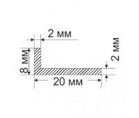 Corner 8х20х2 mm, 0.141 kg / p.m.